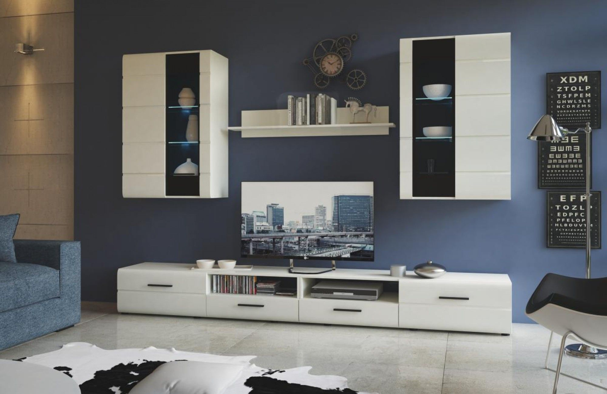 wohnwand hochglanz gnstig affordable otto schrankwand wohnwand tlg online kaufen otto wei. Black Bedroom Furniture Sets. Home Design Ideas