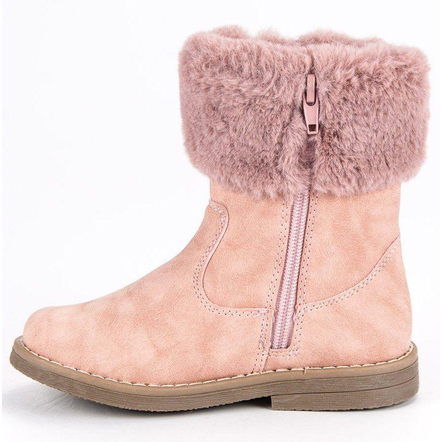 Kozaki Dla Dzieci Americanclub American Club Rozowe Cieple Kozaki American Boots Shoes Uggs
