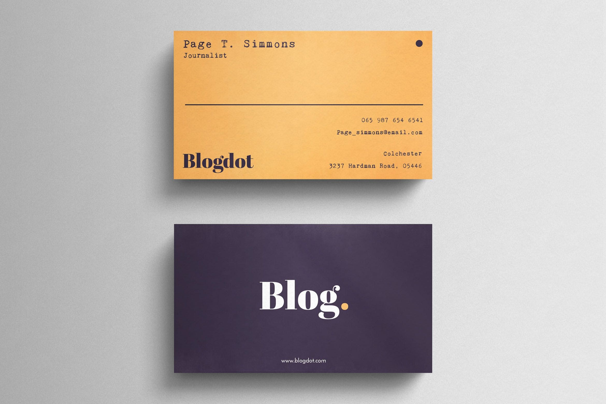 Minimal Blogger Business Card | ABC_ab-consultores | Pinterest ...