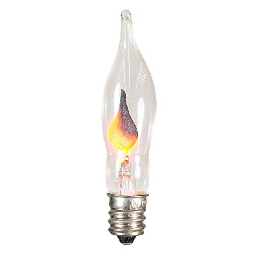 Club Pack Of 25 Flicker Flame C7 Christmas Replacement Light Bulbs Read More At The Image Link Bulb Light Bulbs Glass Bulbs