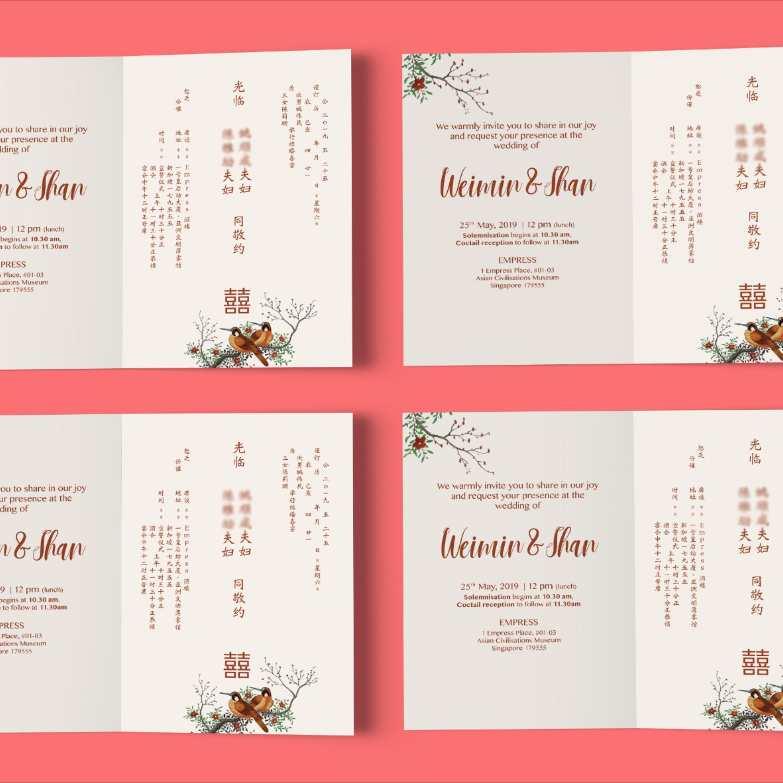 Invitation Card Chinese Wedding East Meets West Pernikahan