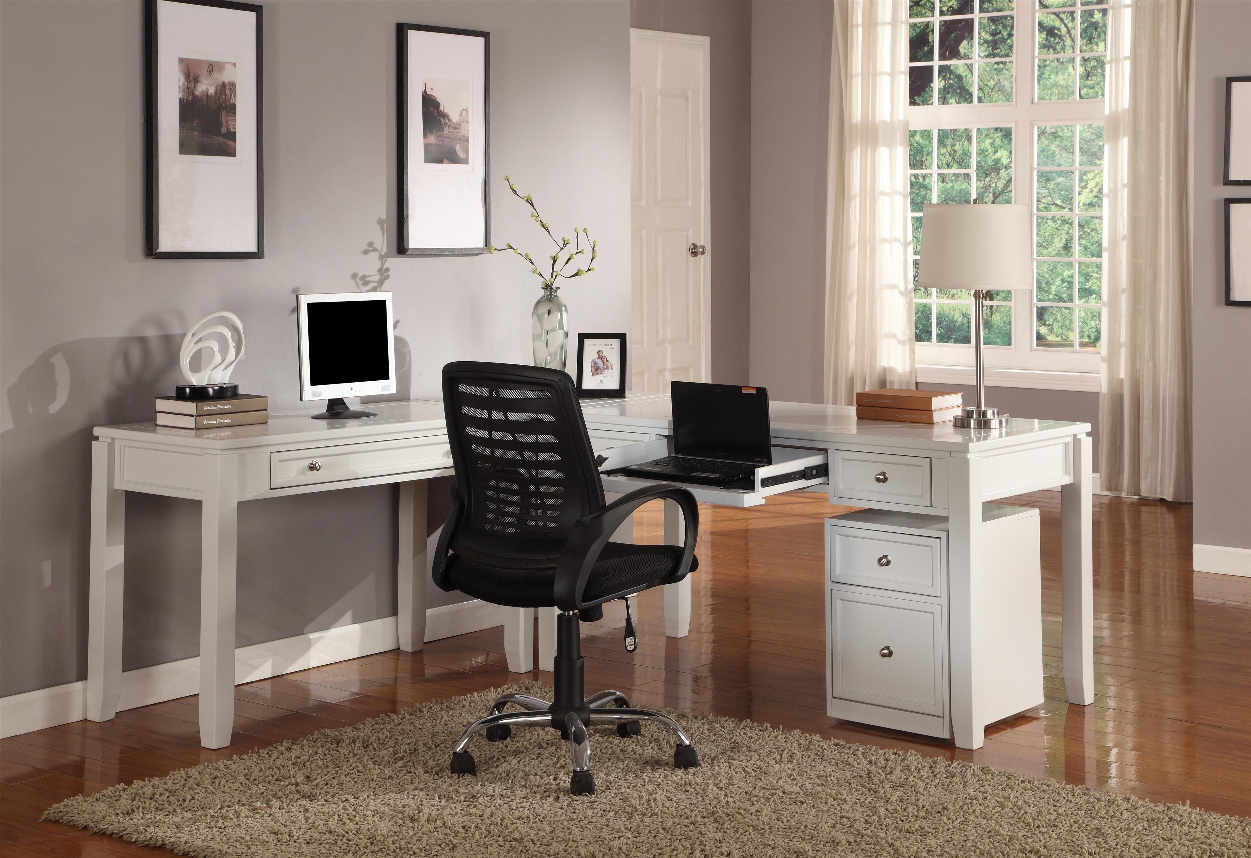l computer white harbor view products corner shaped sauder desk