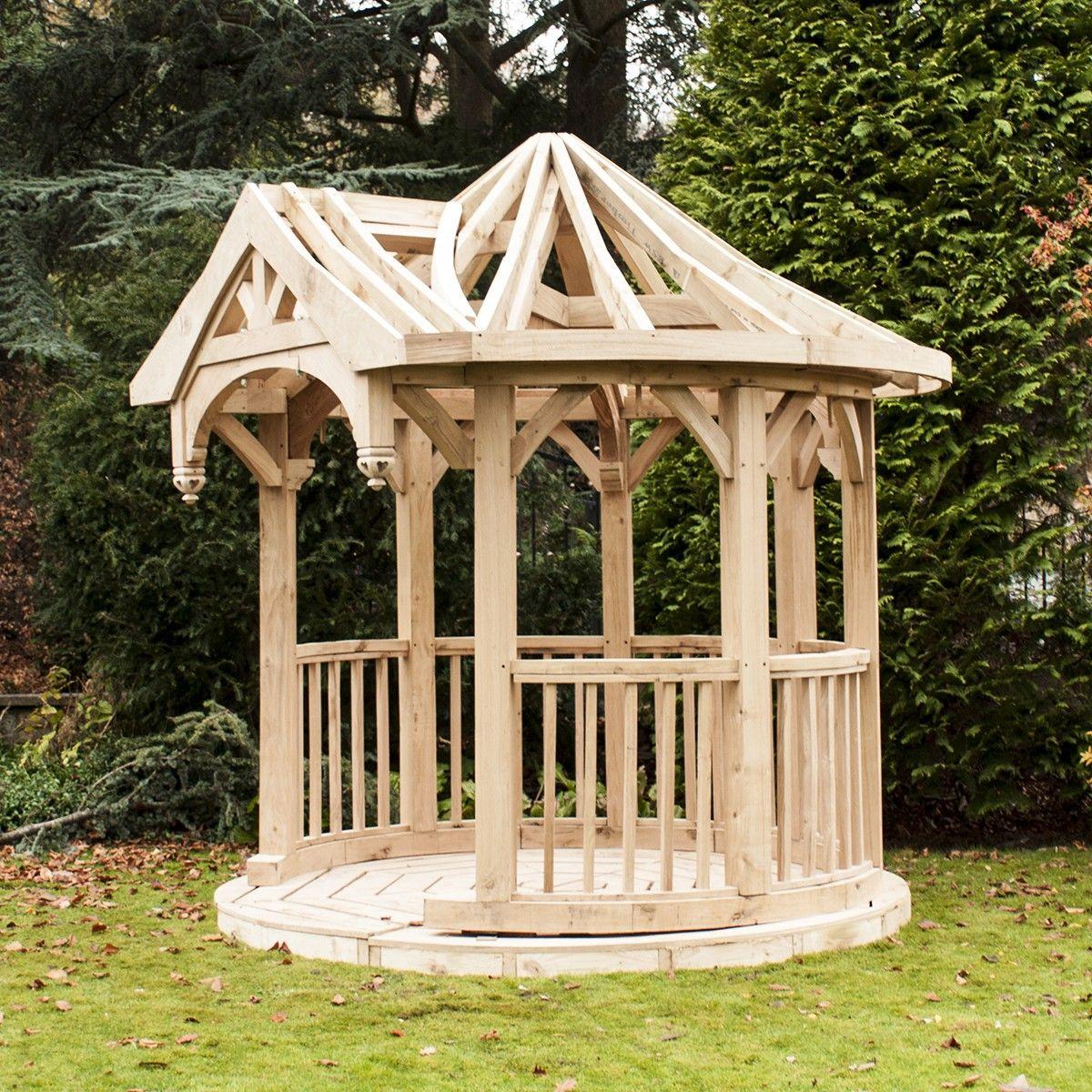 Shingle Garden Designs: Circular Gazebo (with Oak Floor And Shingles)
