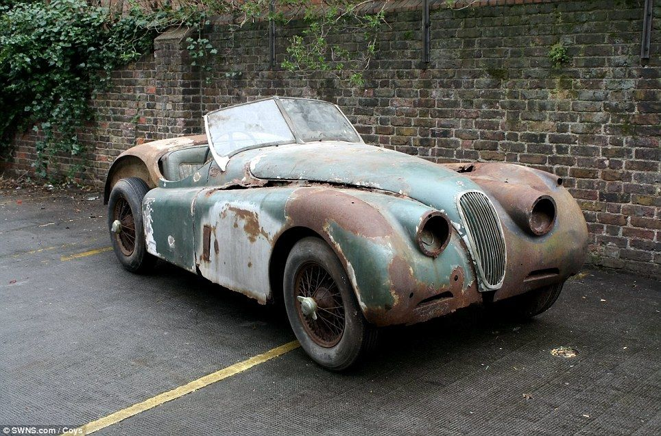 Jaguar XK120 | old rusty cars and trucks | Pinterest | Jaguar xk120 ...