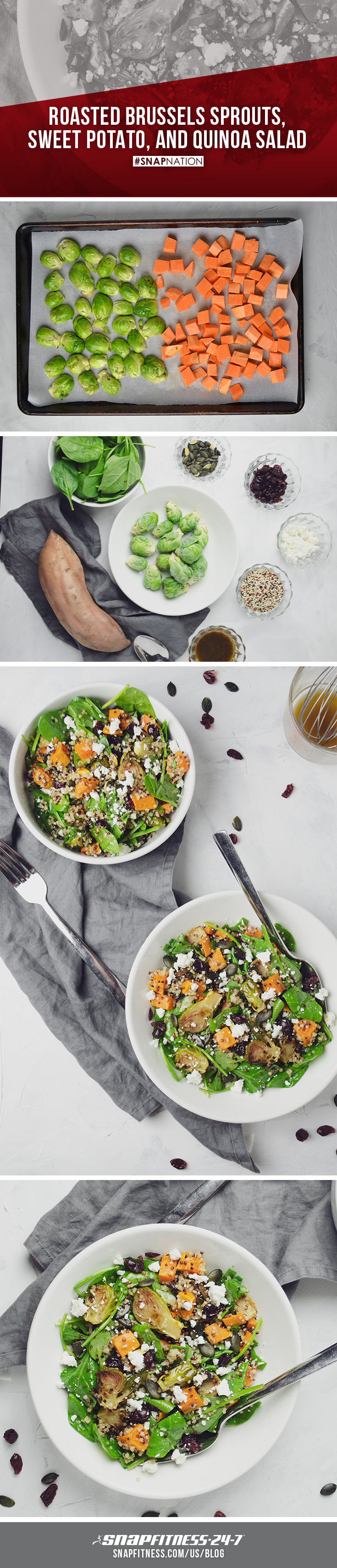 The leaves are changing, the air is crisp, and fall is officially here. Welcome the new season with a fall inspired quinoa vinaigrette salad made from your favorite market veggies. Visit our blog for this easy to make recipe.  #SNAPNATION