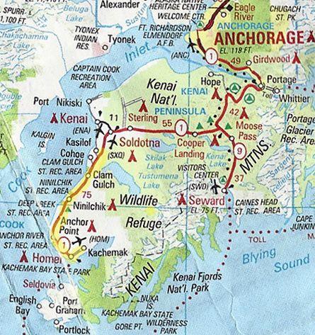 Map Of Kenai Peninsula Detailed Map of Kenai Peninsula | If you're interested in a more  Map Of Kenai Peninsula
