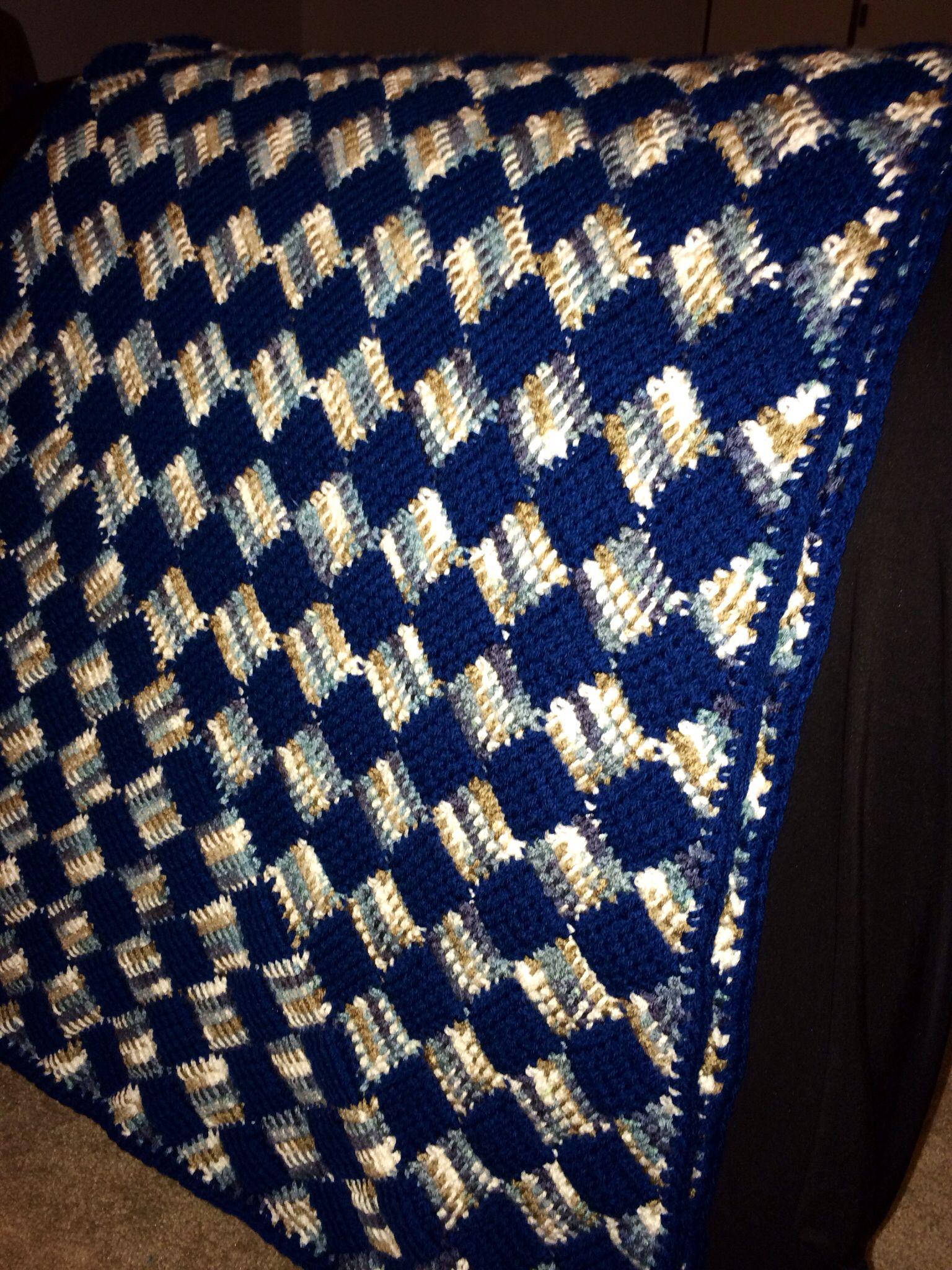 Crochet #entrelac #afghan   Yarn   Pinterest