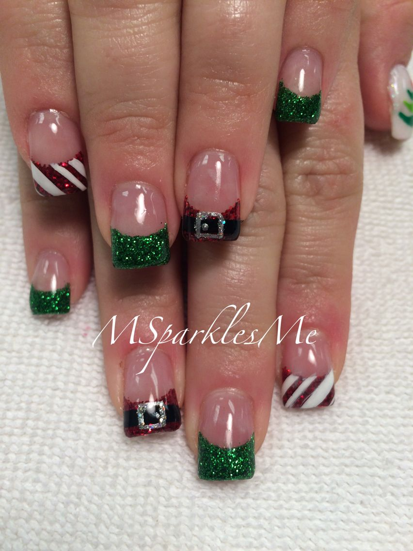 christmas santa belt nails swanky