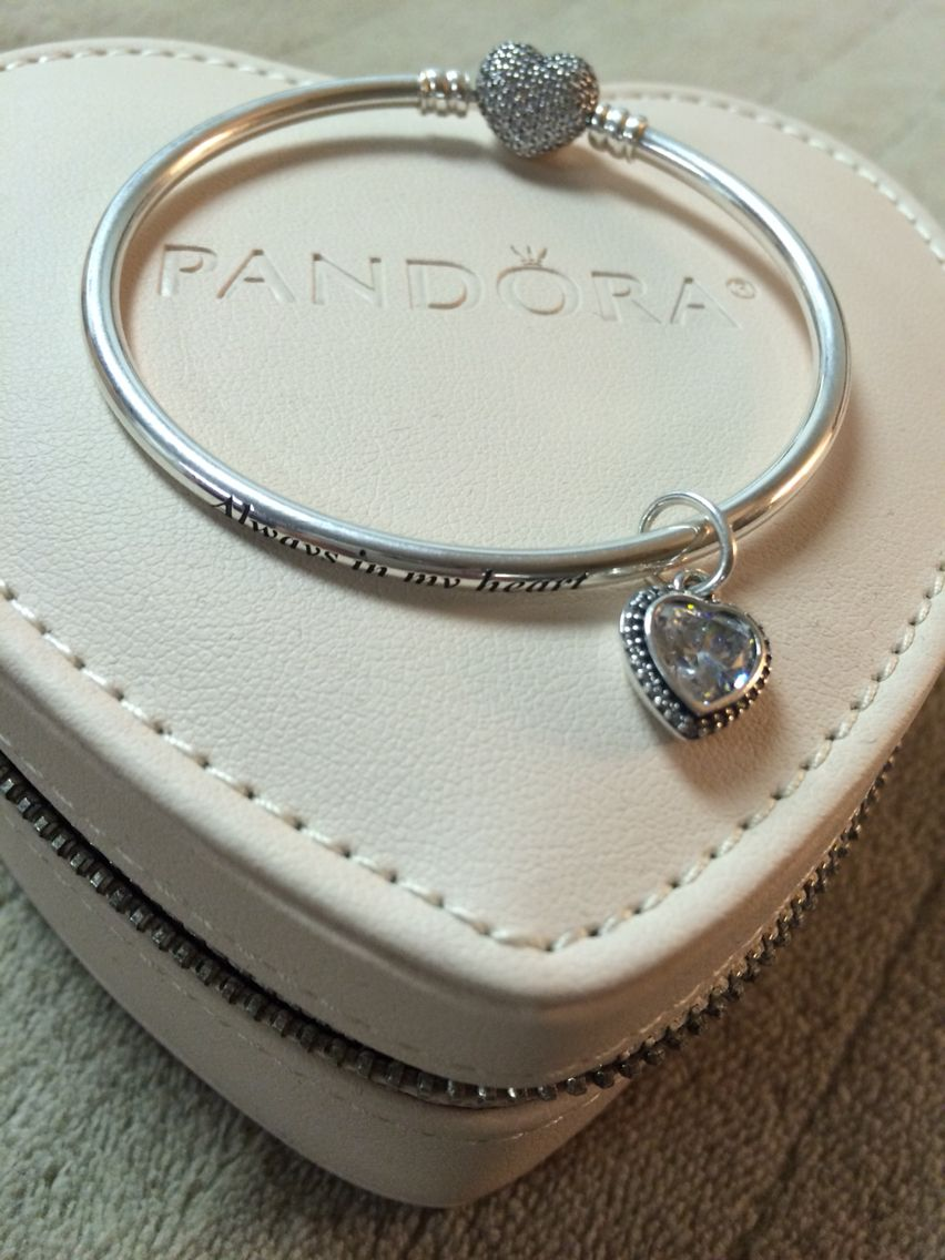 db49a91d3 Limited edition Mother's day 2015 Pandora bangle.. Always in my heart  engraved.