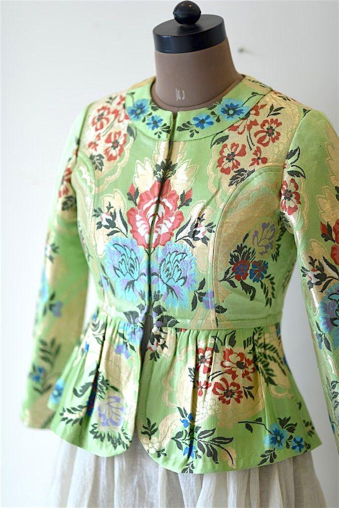 ef8df6ec0cfdd6 Indian Couture Jacket in Brocade and Silk.