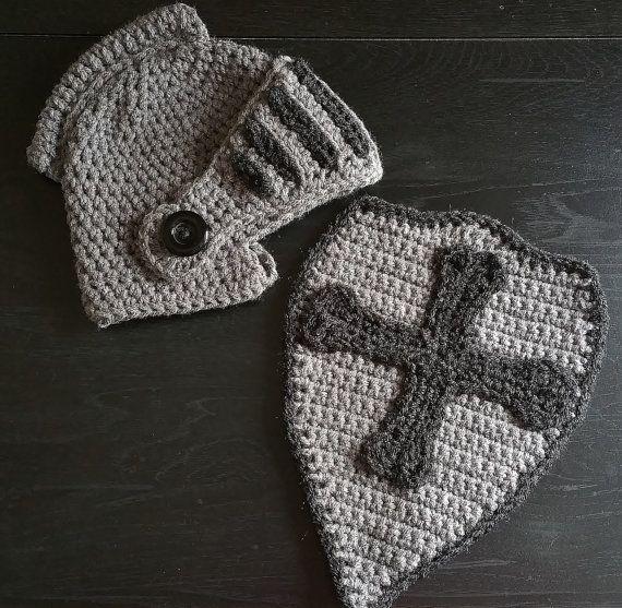 Crochet Knight Helmet & Shield Newborn-Adult by ALittleLadyandMe ...
