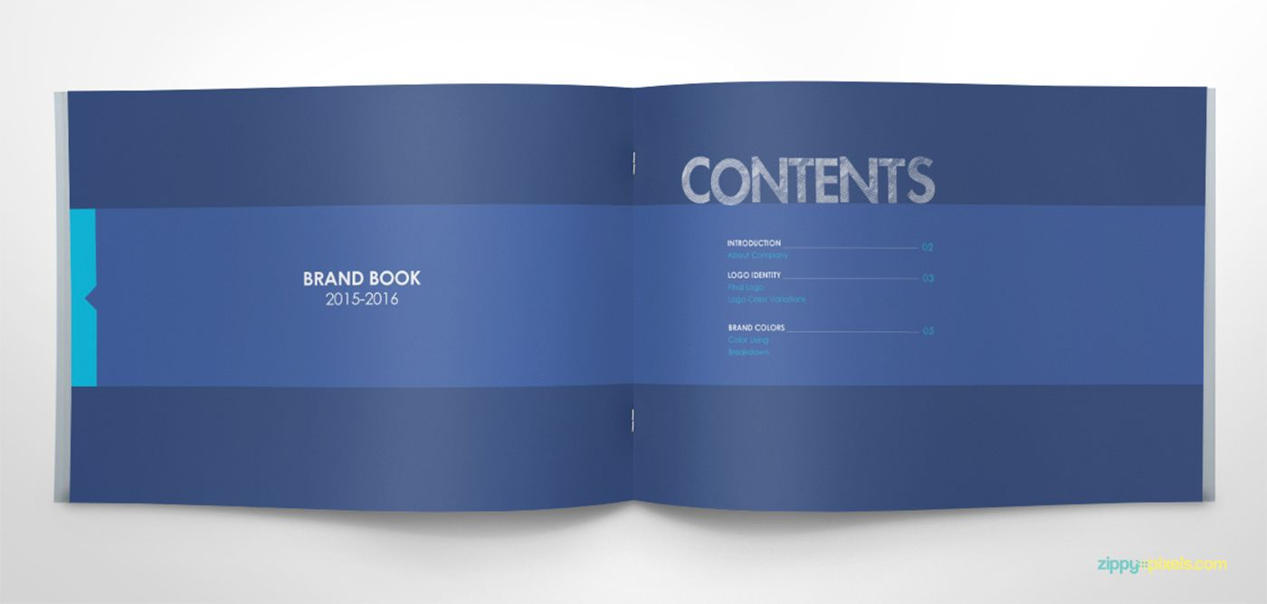 Free Brand Book Template - Cool Blue on Behance | Powerpoint ...