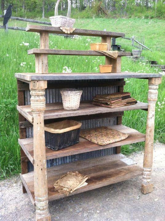 mesa para macetas