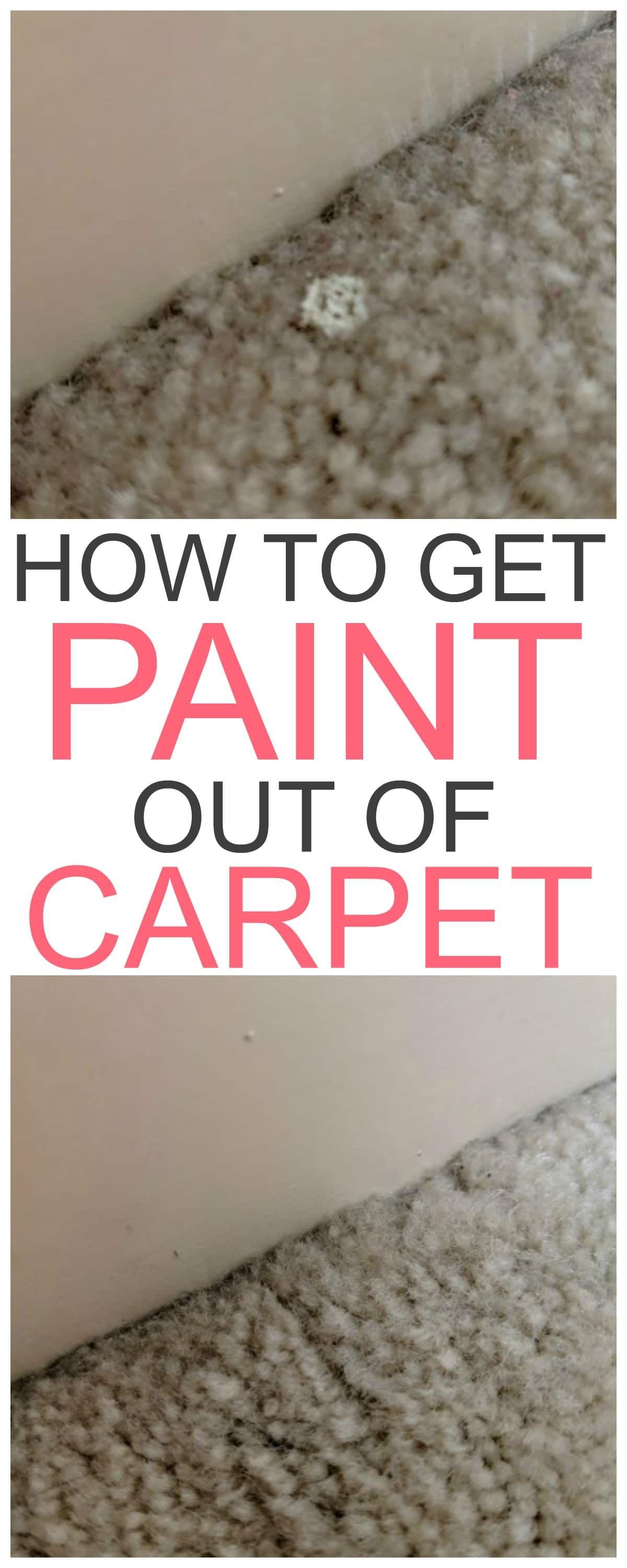 How To Get Paint Out Of Carpet Cleaning Hacks House Cleaning