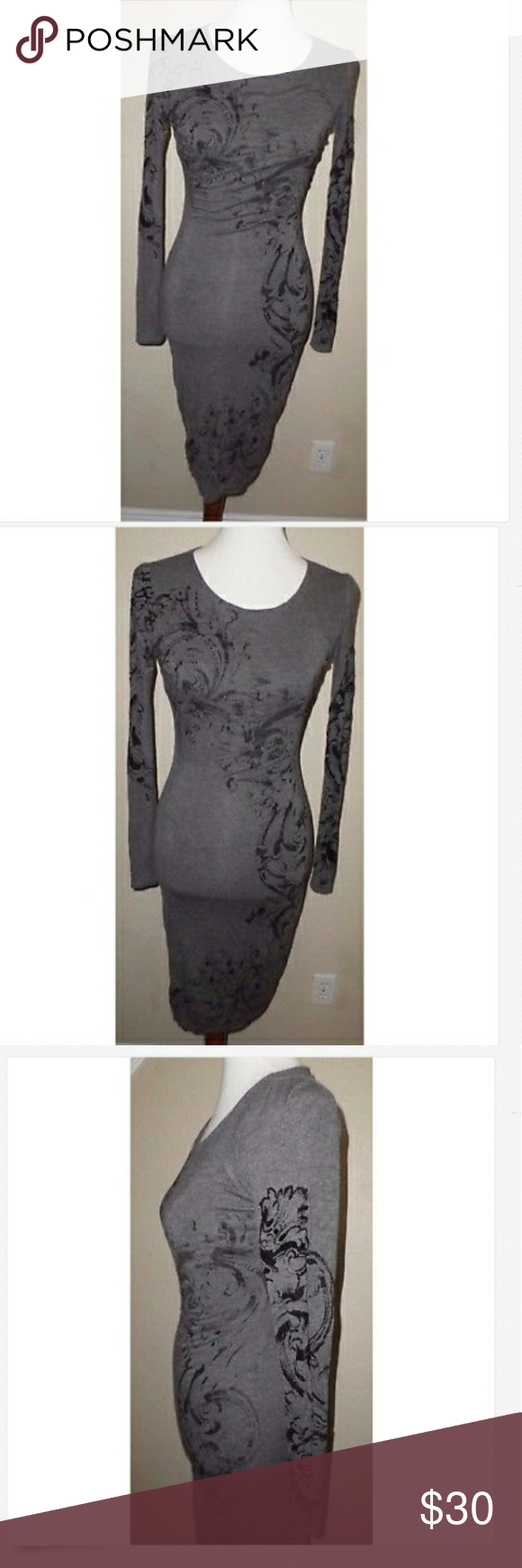 Cache fitted gray party dress size xs grey party dresses and grey
