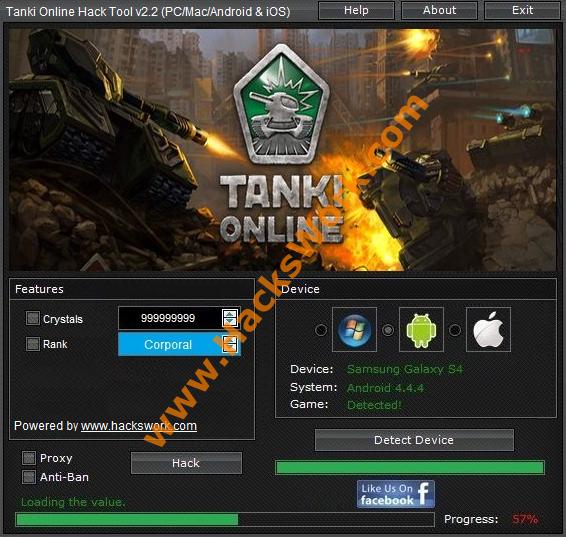 Tanki Online Hack Tool V2 2 Pc Mac Android Ios Www Hackswork Com Tool Hacks Hacks Online