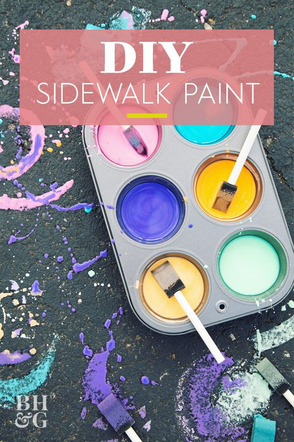 Make Your Own Sidewalk Paint With Just Three Pantry Ingredients (Including Water!) -   19 diy projects For Boys food coloring ideas