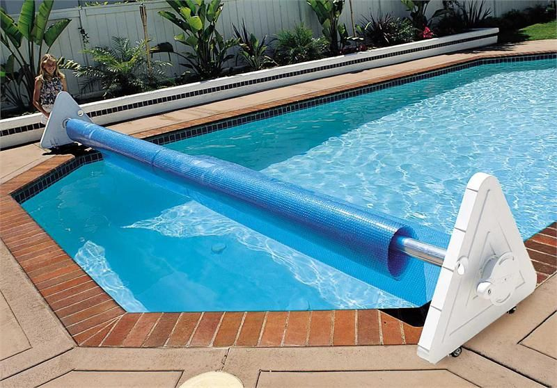 Deluxe portable solar pool cover reel backyard ideas for Portable pool