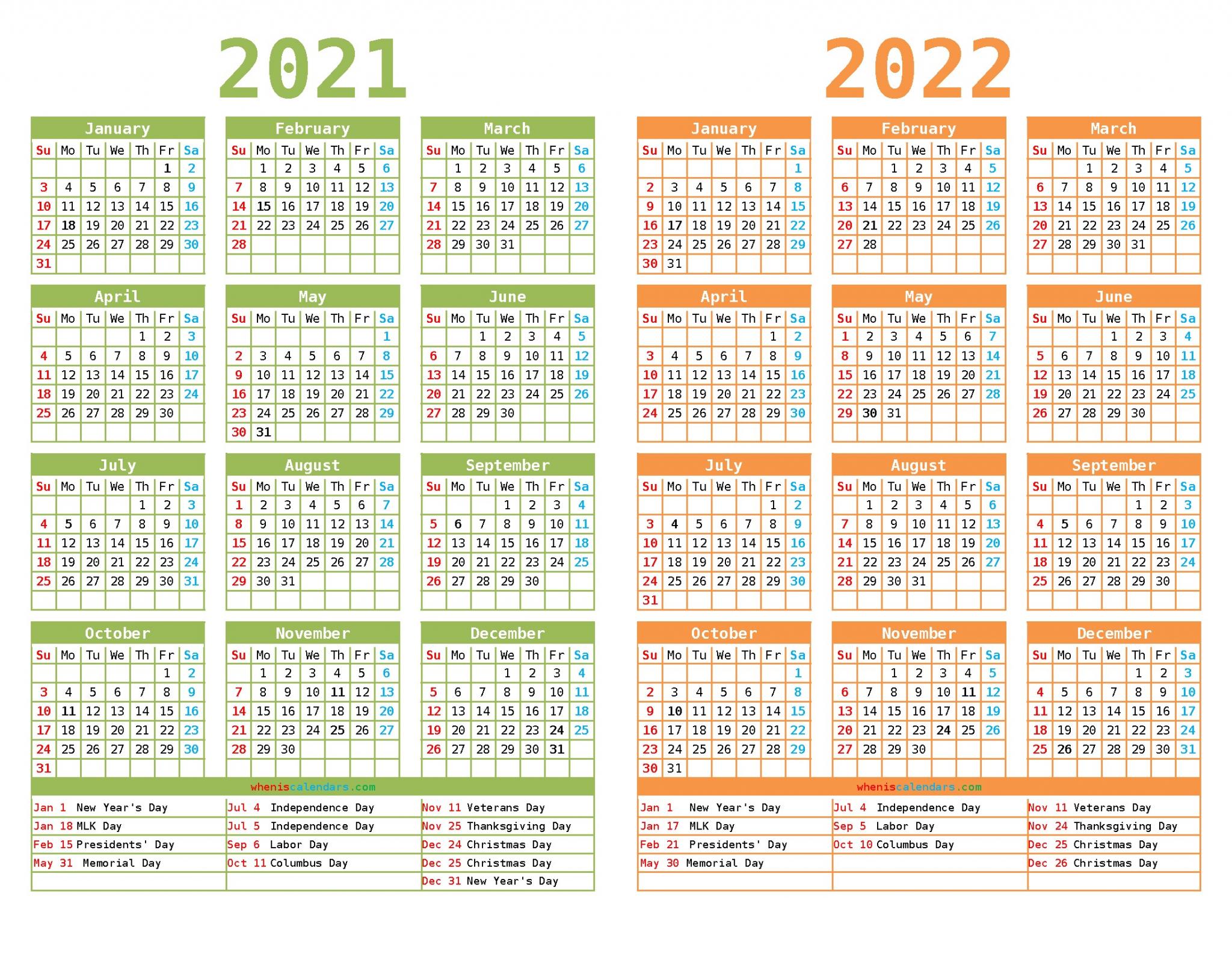 Usps Calendar 2022.Two Year Calendar 2021 To 2022 In 2021 Calendar Design Template Calendar Template Free Printable Calendar Monthly