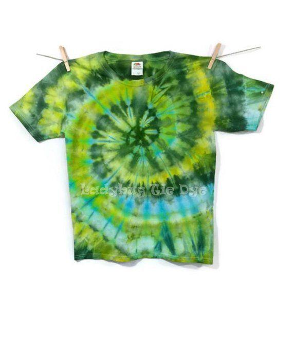 aa5177db96c0 Kids St Patricks day shirt - Green tie dye tshirt - Nature inspired camping  shirt - Tye dye hippie c