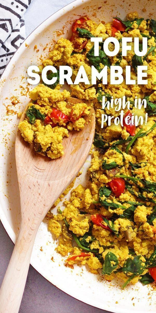 Tofu Scramble is a vegan breakfast idea that is high in protein and oil-free. via @karissasvegankitchen