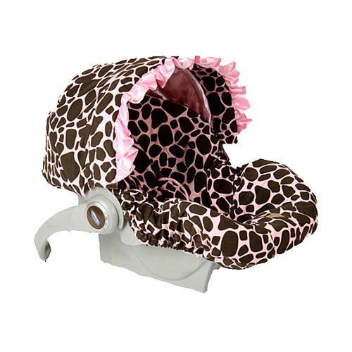 Baby Bella Maya Infant Car Seat Cover - Ginny Giraffe - Baby Bella