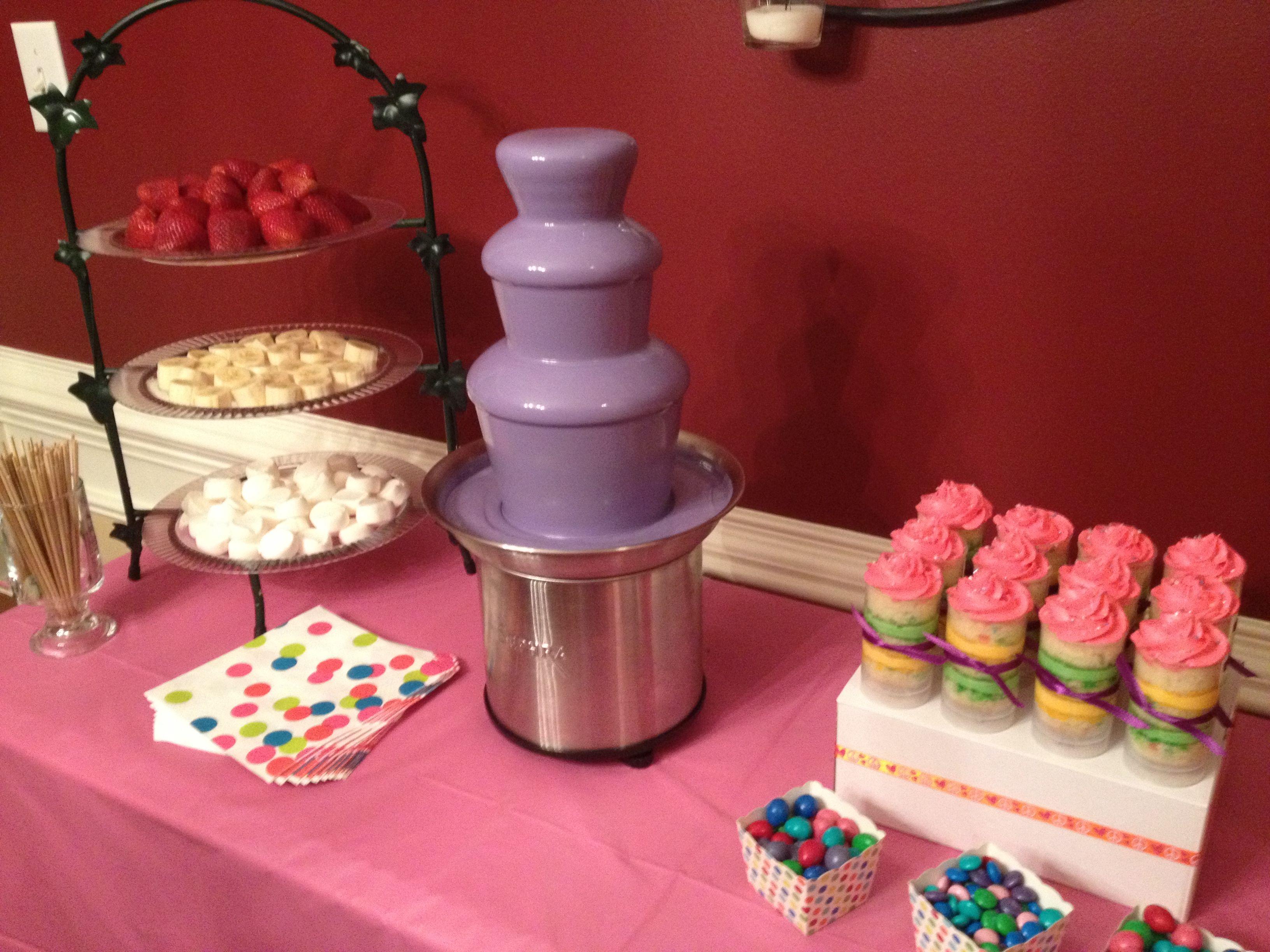 Purple chocolate fountain | Chocolate Fountains | Pinterest ...