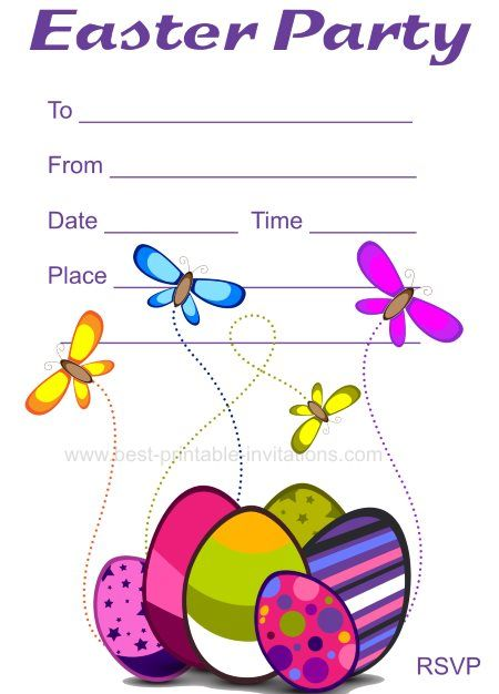 printable easter party invitations free invites from www best