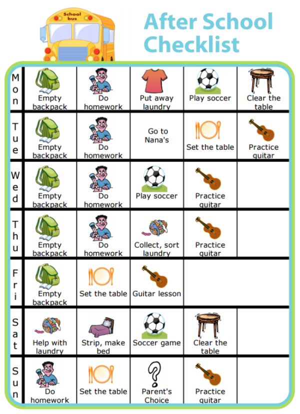 Make Your Own After School Checklist PLUS lots of other printable ...