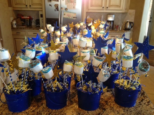 Pin By Cindy Guthrie On Scouts Blue Birthday Parties Birthday Party Centerpieces Graduation Party Table
