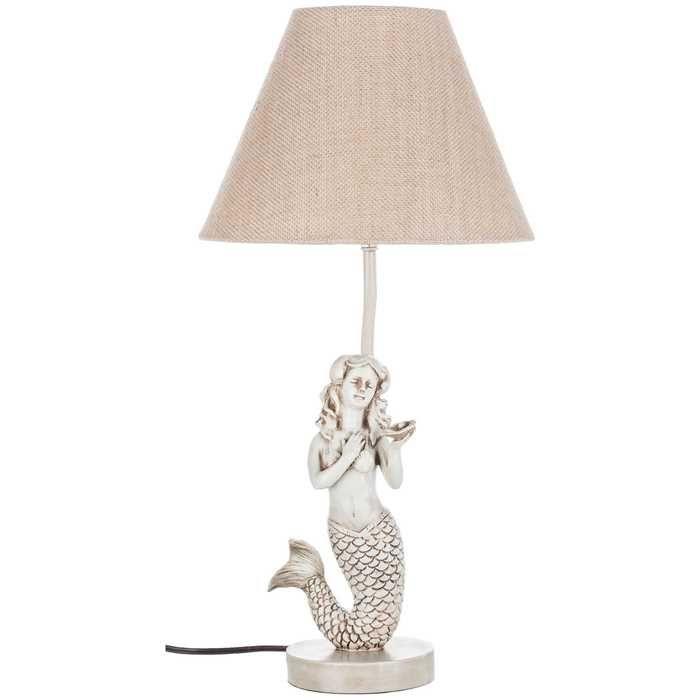White Resin Mermaid Lamp With Shade Hobby Lobby Mermaid Lamp Lamp Mermaid Themed Bedroom