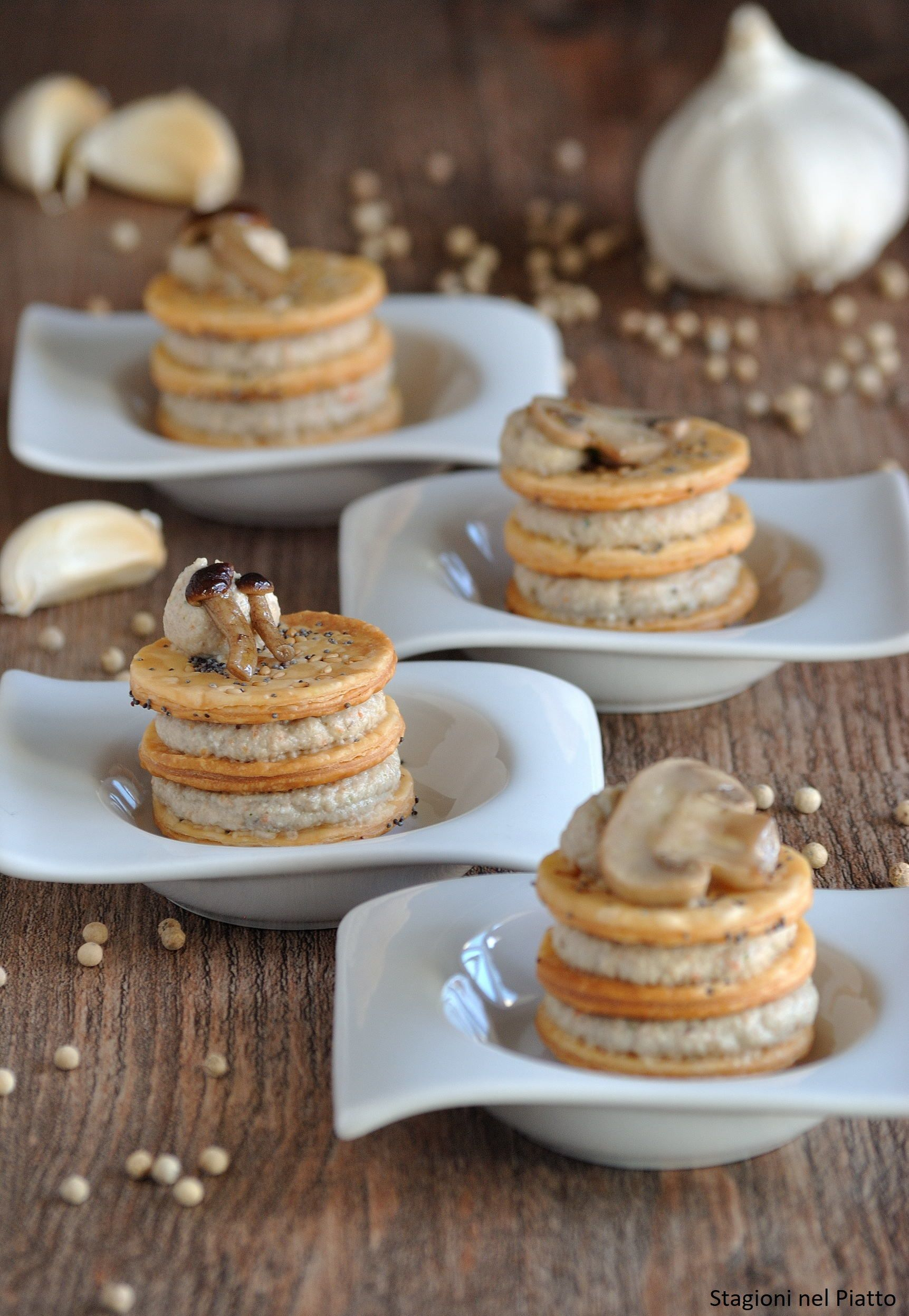 Photo of Savory mini puff pastry with mushrooms