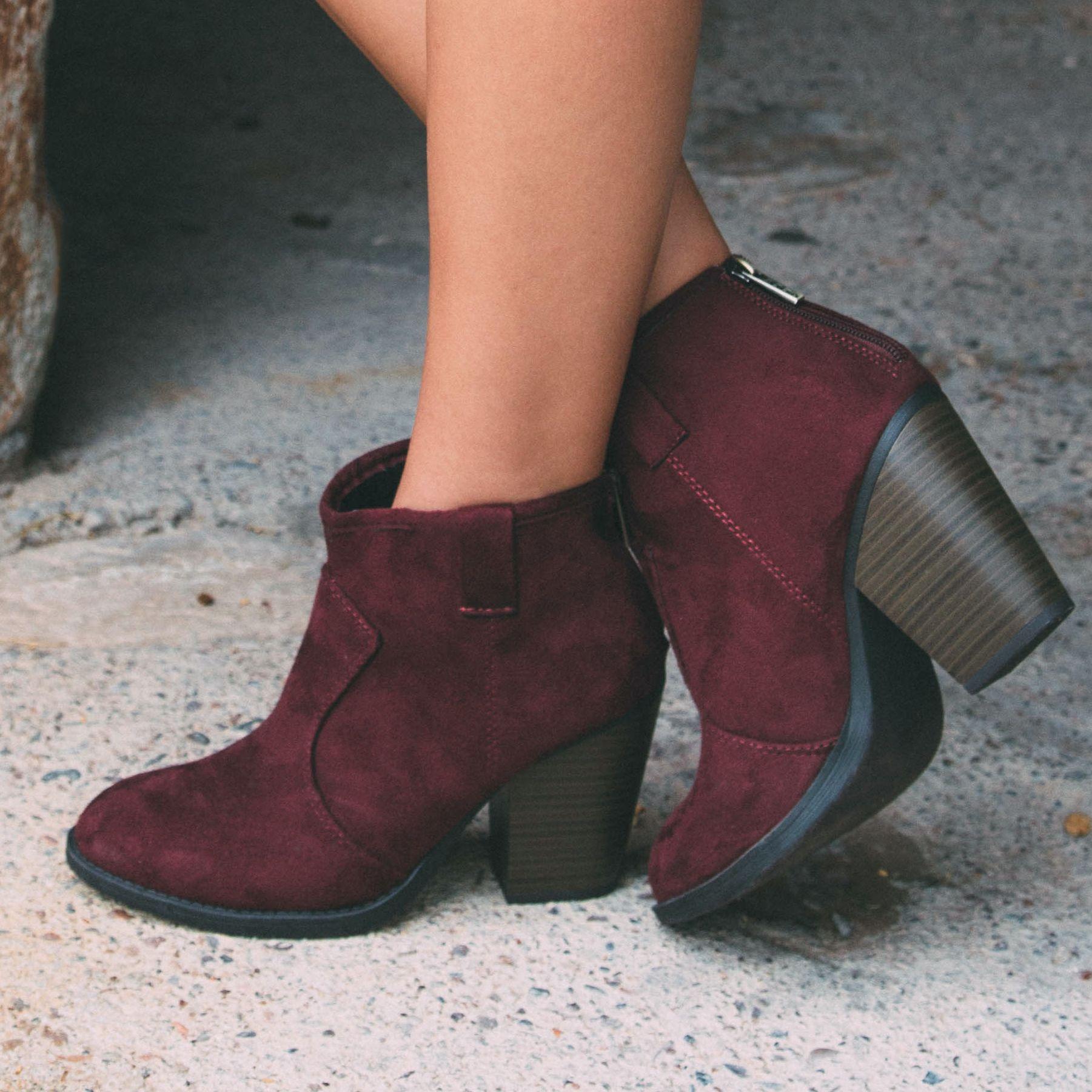 42b34c06 Botines granates | Botas | Shoes, Shoe boots, Shoes sandals
