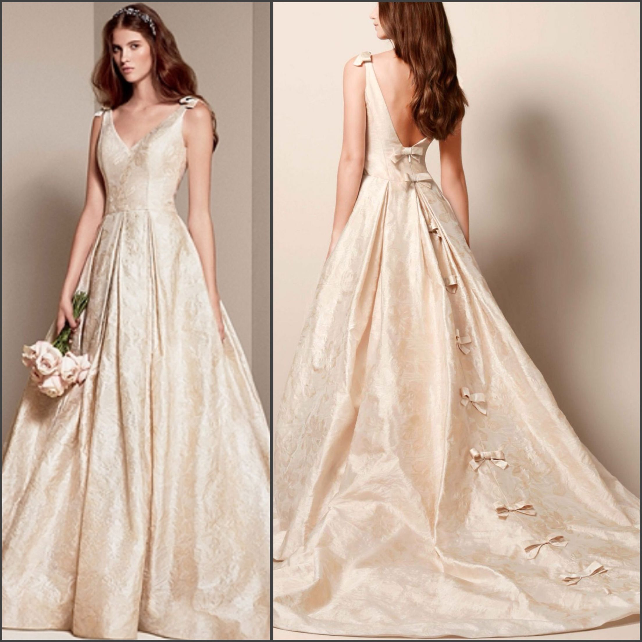 Preowned Wedding Gowns: White By Vera Wang Double-weaved Floral Matelasse Ball