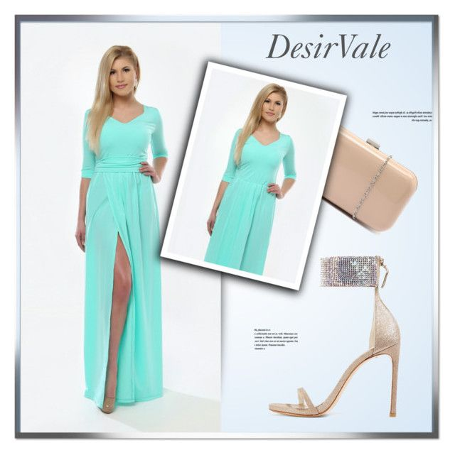 """""""DesirVale - Etsy"""" by monmondefou ❤ liked on Polyvore featuring Verali, Stuart Weitzman, mintdress, DesirVale and DesirCouture"""