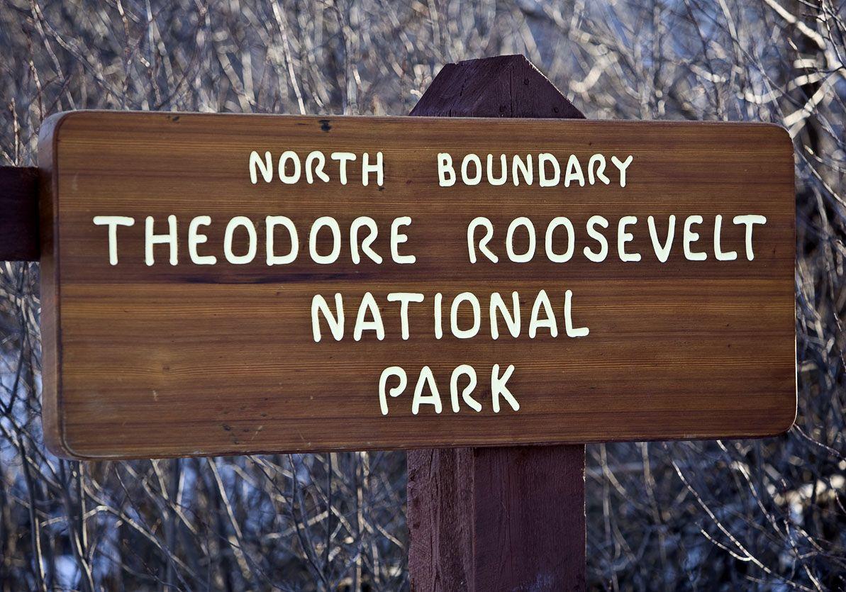 Theodore Roosevelt National Park Sign North Dakota 3