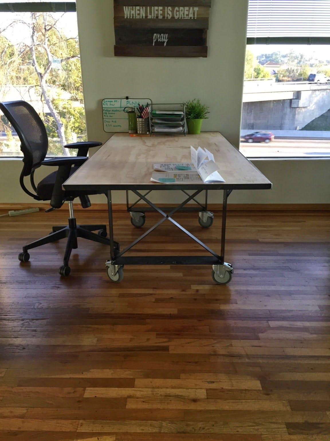 BRAD ALLEN   welding co: Custom steel table with plywood top