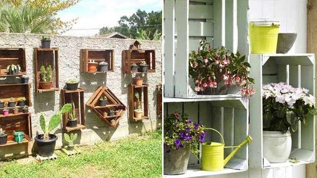 Tante idee per abbellire giardini e terrazze con il riciclo di