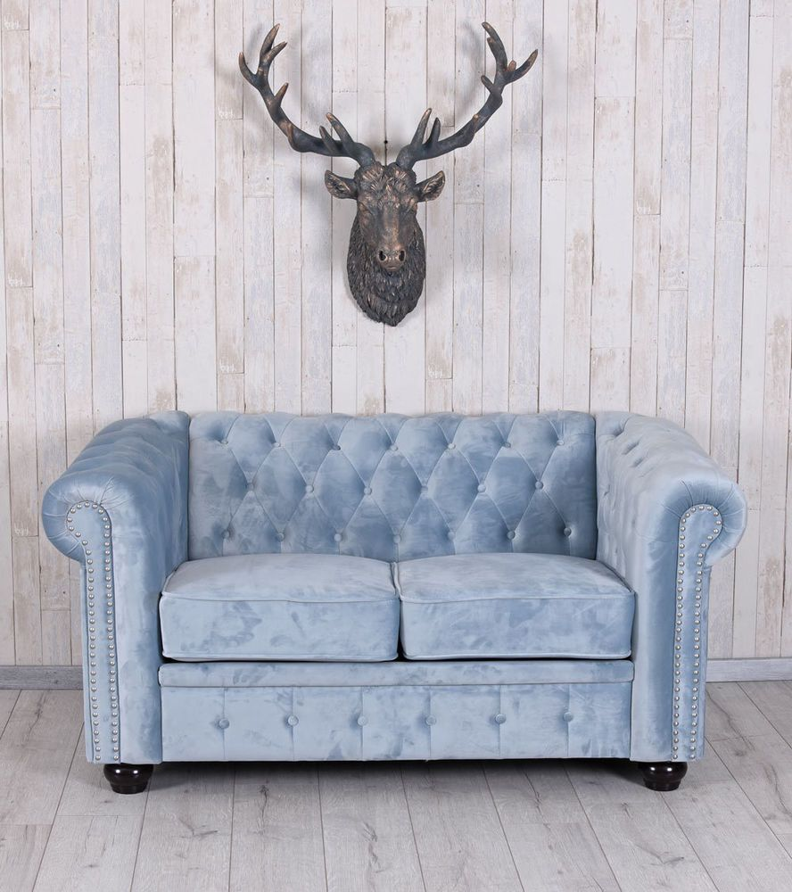 Chesterfield Sessel Samt Chesterfield Sofa Samt Couch Polstersofa Sitzmöbel British Chic