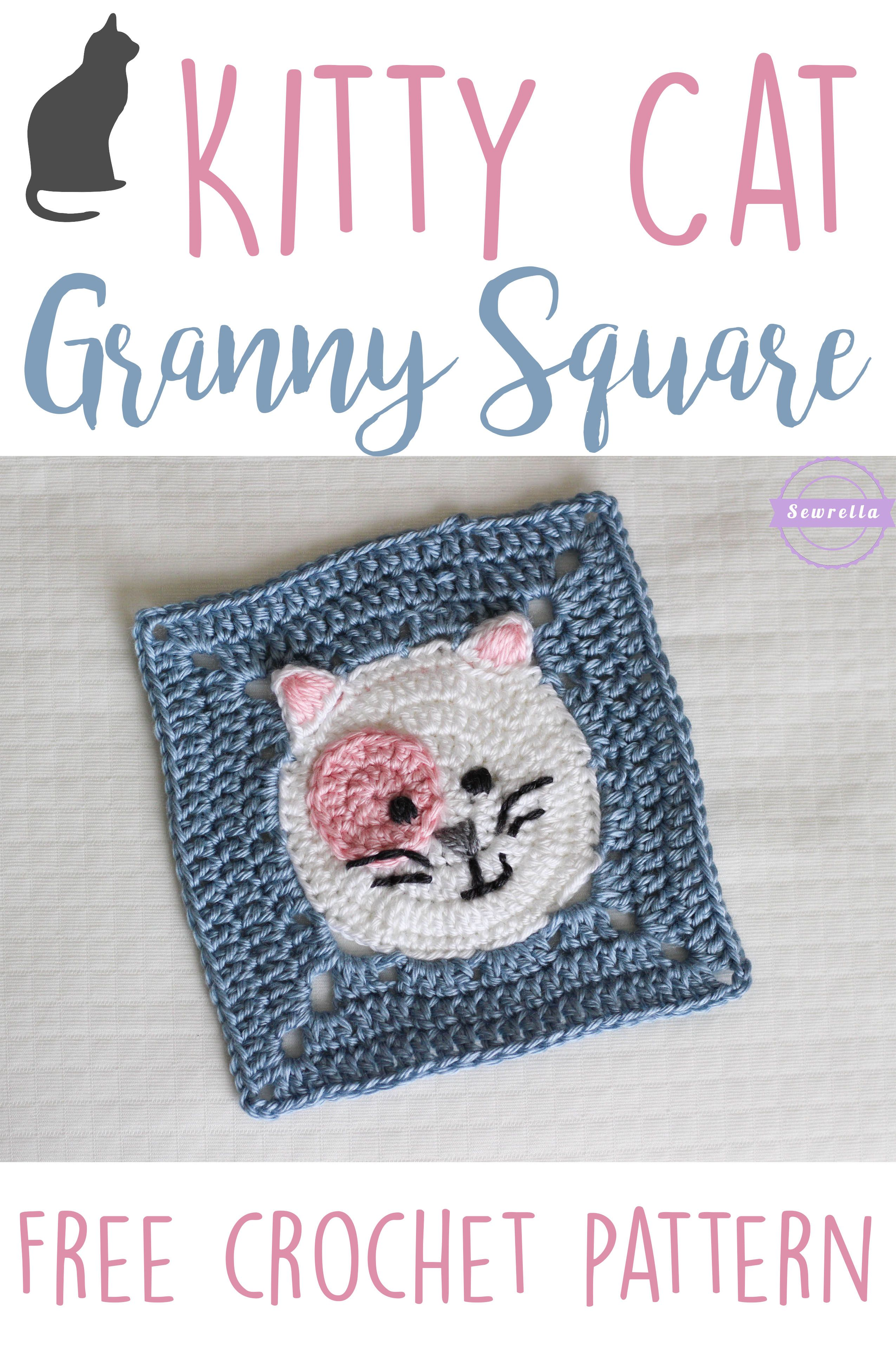 Kitty Cat Crochet Granny Square | WHOot Best Crochet and Knitting ...