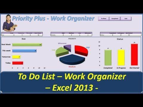 To Do List -- Priority Plus Work Organizer -- VBA Excel 2013