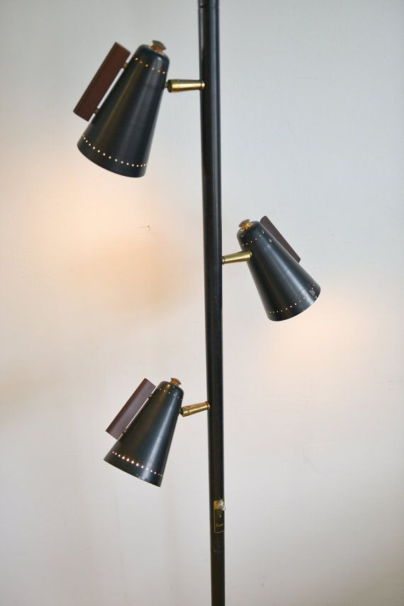 Mid Century Tension Pole Light By Raymond Loewy For