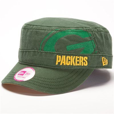 New Era Green Bay Packers Ladies Goal-To-Go Military Adjustable Hat - Green 323bebf81