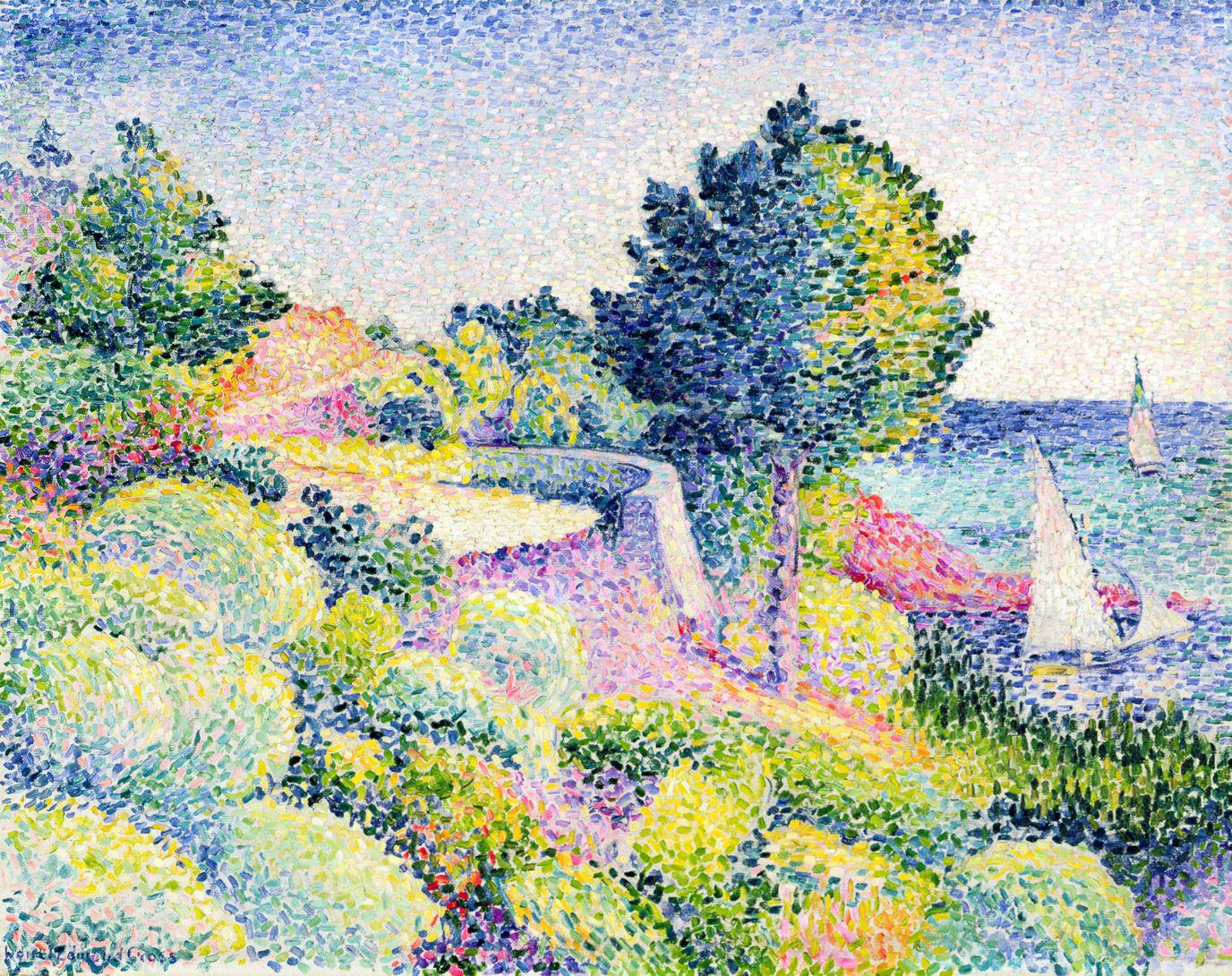 La Route sur la Côte   neo-impressionism en 2019   Pointillisme, Impressionnisme et Art