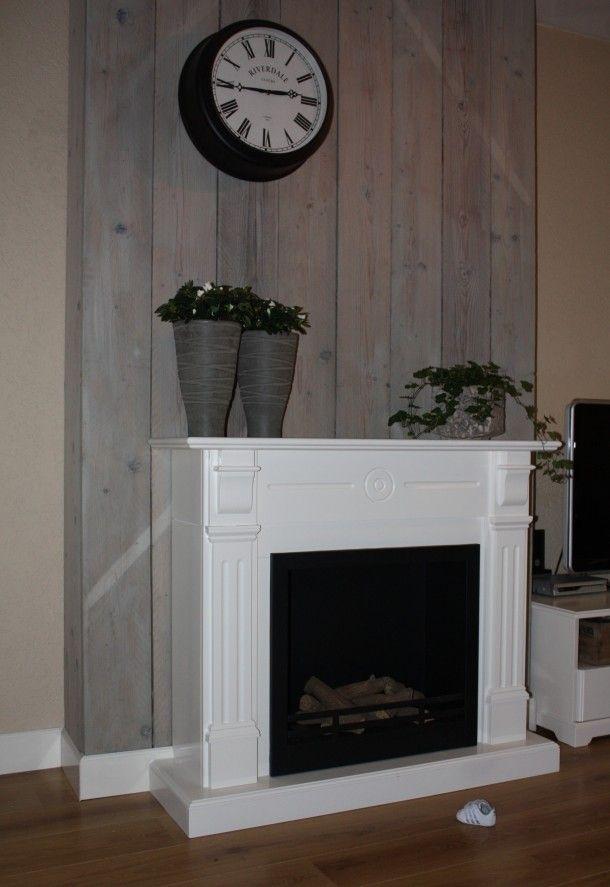 Interieurideeen Witte Schouw Voor Een Vergrijsd Steigerhouten Paneel Door Nienkebandsma Huis Ideeen Wit Interieur