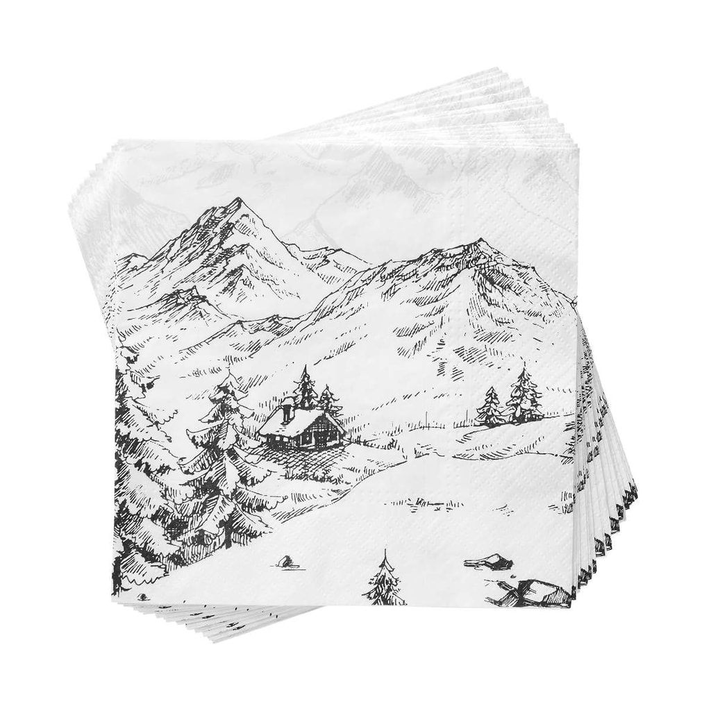 APRÉS Papírové ubrousky Alpy  c2ce237ca2