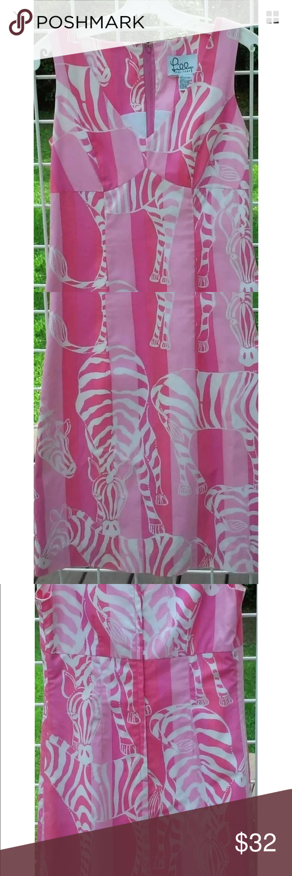 Lilly Pulitzer Dress Beautiful Lilly Pulitzer dress pink zebra print size 4 like new!!! Lilly Pulitzer Dresses