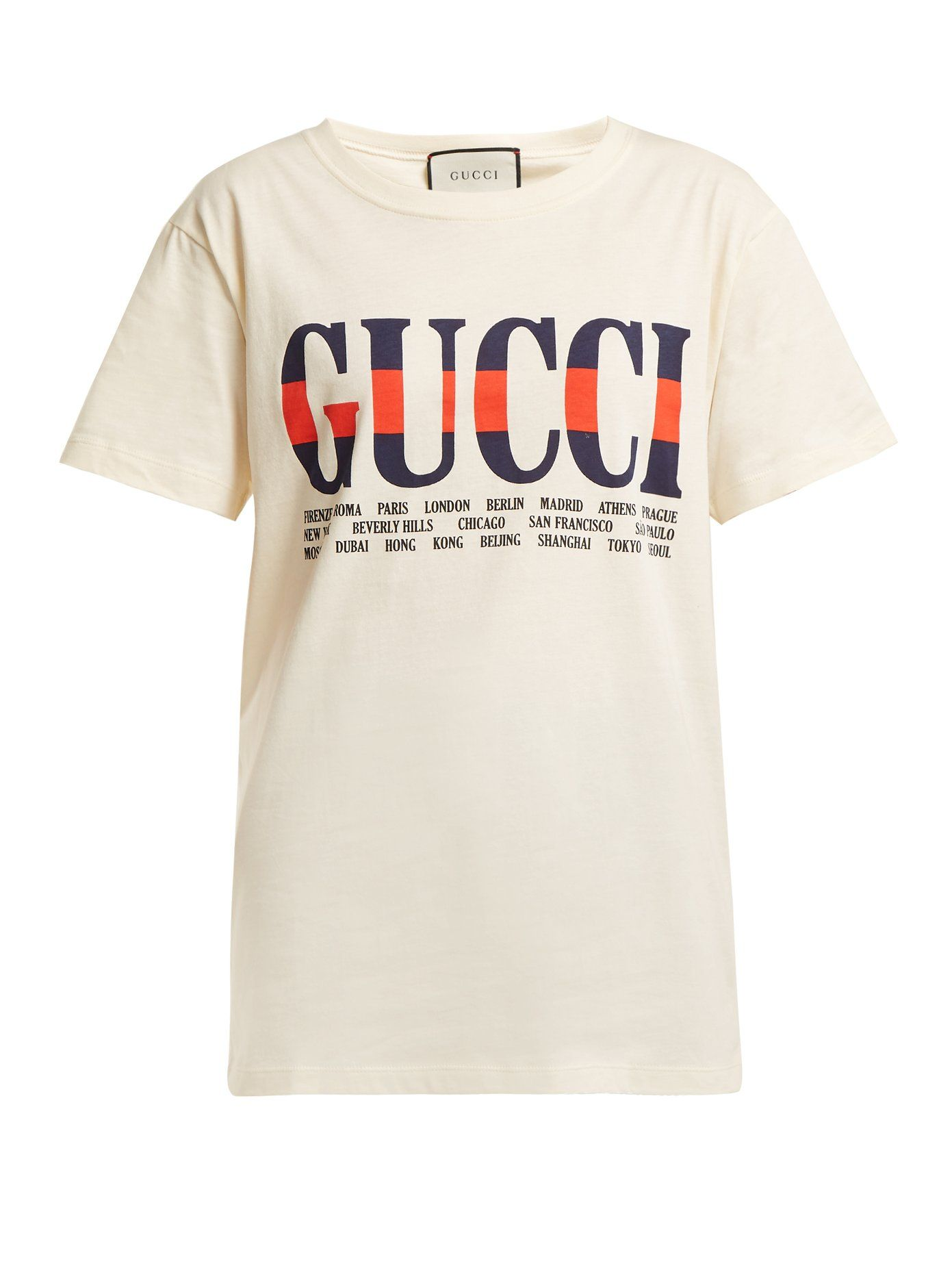 Logo Print Cotton T Shirt Gucci Matchesfashion Uk Cute Lil
