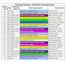 Image Result For Training Calendar Template   Chennai