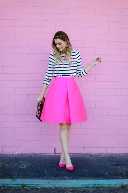 24 Flirty Outfits mit heißen rosa Röcken - Mode Tipps ...